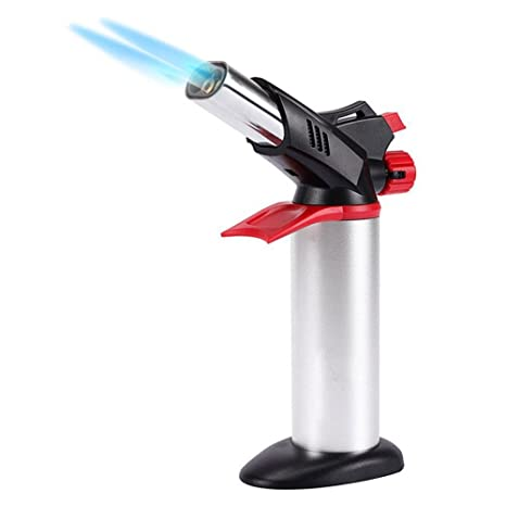 jun l double flame kitchen blow torch lighter refillable butane gas culinary blow torch - Kitchen Blowtorch