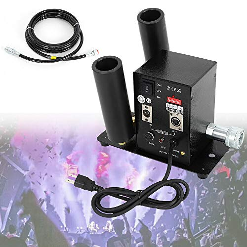 (DJ Equipment Double Pipe DMX512 CO2 Jet Machine Effect Fog Smoking Machine Stage for Parties Halloween Wedding Christmas DJ)