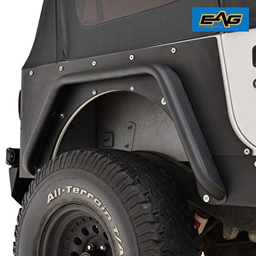 EAG Rear Corner Guard Rock Metal a Pair Armor for 87-96 Jeep Wrangler -