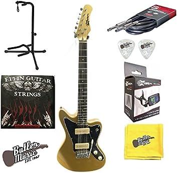 EFFIN guitarras jzm/SGLD Jazz Master estilo guitarra eléctrica w/EFFIN cuerdas y más: Amazon.es: Instrumentos musicales