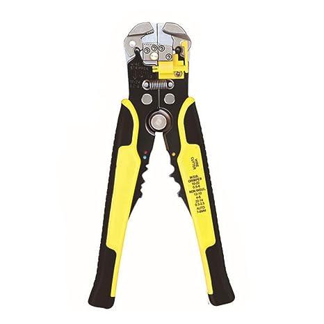 Alicates de alambre para cortar cables multifuncionales GFEU autoajustables, herramienta perfecta para bricolaje, amarillo