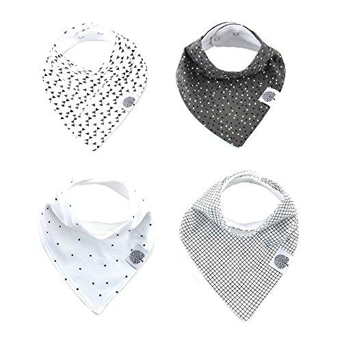 the-good-baby-bandana-drool-bibs-4-pack-baby-bibs-for-boys-girls-unisex-shadow-set