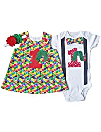 Boy Girl Twin Outfits 1st Birthday Hungry Caterpillar