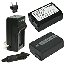 Wasabi Power Battery (2-Pack) and Charger for Sony NP-FW50