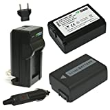 #10: Wasabi Power Battery (2-Pack) and Charger for Sony NP-FW50 (Compatible with Alpha a7, a7 II, a7R, a7R II, a7S, a7S II, a5000, a5100, a6000, a6300, a6500, NEX-5T, Cyber-shot DSC-RX10 III and more)