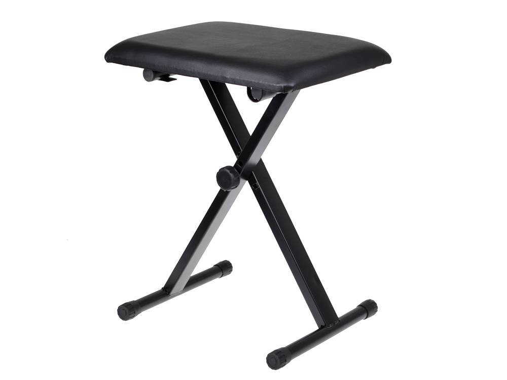 TMS Adjustable Leather Padded Piano Keyboard Bench Seat w/Rubber Feet Stool Chair