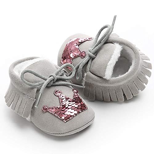 Bébé Peluches Et Rose Or Pour Couronne Courroie Chaussons Bandage Chaussure Marche Coton Chaussures Enfant Lanskirt En Bébé De UqwSdUz