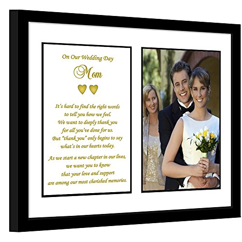 Mother Wedding Thank You Gift From Both Bride and Groom, Poem for Mom, Add Photo ()