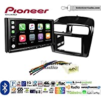 Volunteer Audio Pioneer AVH-2440NEX Double Din Radio Install Kit with Apple CarPlay, Android Auto and Bluetooth Fits 2014-2015 Mitsubishi Mirage