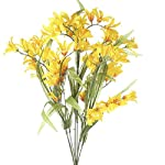 Factory-Direct-Craft-Set-of-2-Bright-Yellow-Artificial-Freesia-Floral-Bushes-for-Arranging-Crafting-and-Creating
