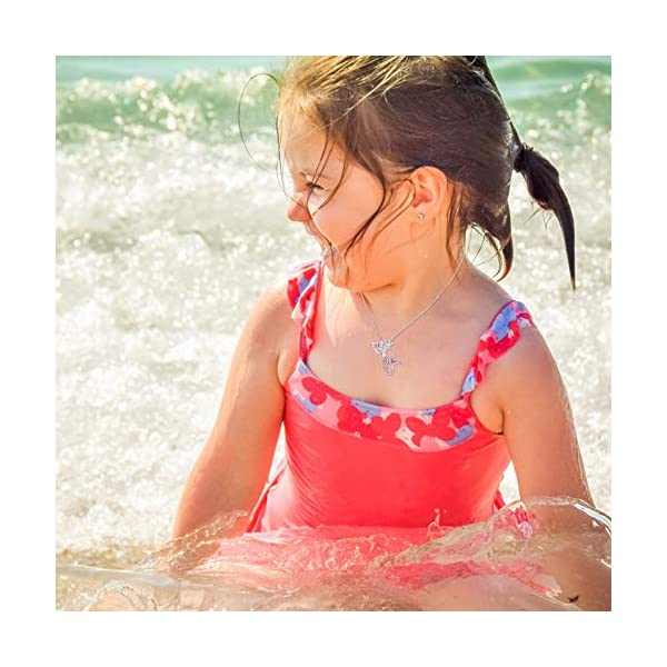 Lanqueen Little Mermaid Pendant Necklace for Women Teen Girls, Fairytale Mermaid Kids Jewelry Gifts