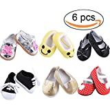 Nanxi American Girl Doll Shoes Set Include 6pcs AG Doll Shoes for 18 Inch Doll,Canvas,Cloth shoes