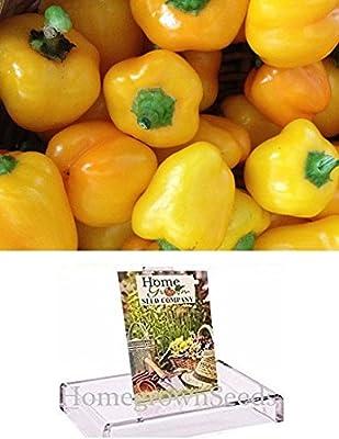 Homegrown Pepper Seeds, 175, Organic Mini Yellow Bell