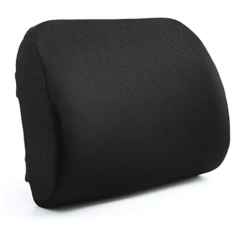 Chairlin Lumbar Back Support Seat Cushion Pillow with Breathable Ergonomic 3D Memory Foamand Nonslip Adjustable Strap Designed for Lower Back Pain Relief Perfect Adapt Office Chair, Car Seat Etc. ()