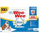 """Four Paws 50 Count Wee-Wee Febreze Absorbent Pee Pads for Dogs - Standard Size (22"""" x 23"""") - Odor Control Dog Training Pads - Puppy Pads"""