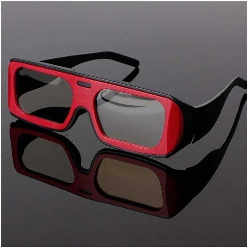You will think of me Gafas 3D Doble Marco De Color Circular Polarizada Pasiva Gafas Estéreo 3D para Real D 3D TV Cinema (Color : RB): Amazon.es: Electrónica