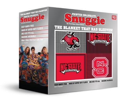 NCAA North Carolina State Wolfpack Patchwork Snuggie - Red ()