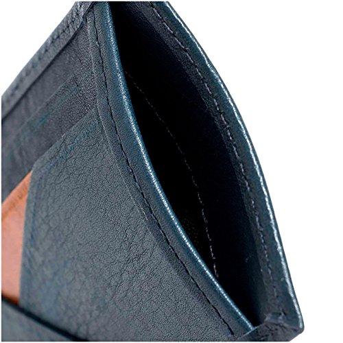 Velez Mens Genuine Full Grain Colombian Leather Bifold Wallets Credit Card Holder Money Clip | Billeteras de Cuero Colombiano para Hombres Navy Blue at ...
