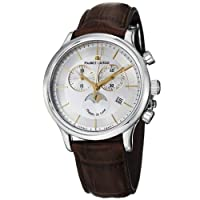 Maurice Lacroix Men's LC1148-SS001132 Les Classiqu Silver Chronograph Dial Watch by Maurice Lacroix
