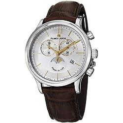 Maurice Lacroix Men's LC1148-SS001132 Les Classiqu Silver Chronograph Dial Watch