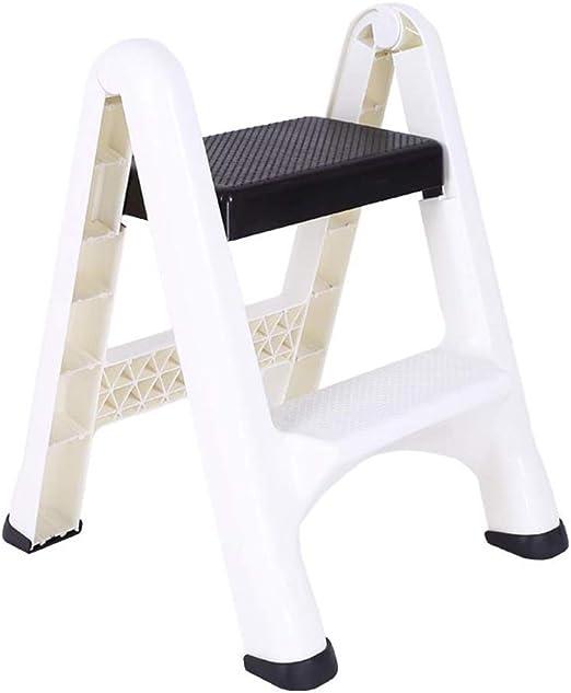 Xsgsgfs Escaleras Plegables peldaños, Taburete Plegable, 2-Escalera Plegable de plástico, pequeño Paso de heces con Anti-Slip Mat, Ligera Cocina Taburete, Capacidad 100kg: Amazon.es: Hogar