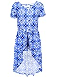One Step Up Big Girls' Romper Maxi Dress, Delilah Blue/Multi, 7/8