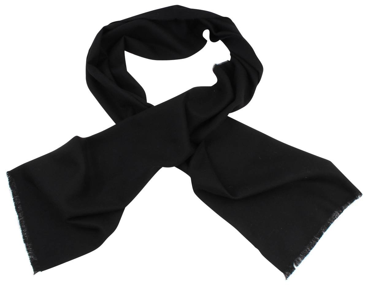 Johnstons of Elgin Unisex Extra Fine Merino Wool Scarf - Black