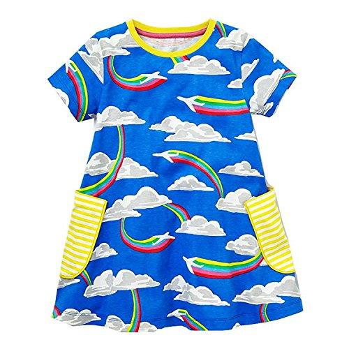 Doris Batchelor Elegant Baby Girls Summer Dress Floral Princess Costume Kids Party Dresses for Girls Clothes Toddler Dress 84 2T -