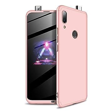 Carcasa Huawei P Smart Z (2019) 360 Grados Cuerpo Completo Funda Mate 3 en 1 Ultra Delgado PC Duro Superficie Antigolpes Anti-Arañazos [Protección ...