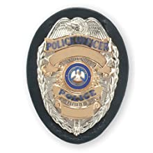 Safariland 7350-03-2 Shield Style Badge Holder, Black, Plain