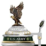 US Army Values Porcelain Stein with Sculpted Eagle Topper by The Bradford Exchange
