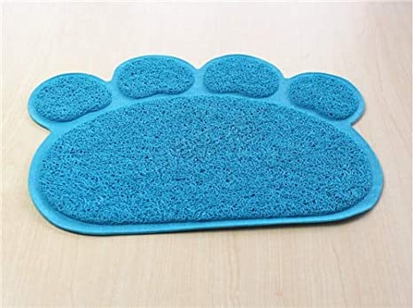 Dog Puppy Cleaning Feeding Dish Bowl Table Mats Wipe Easy Cleaning Pet Small Pad Placemat Cat Litter Mat Supplies Pets Dog Doors, Houses & Furniture Home & Garden