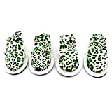 Pet Summer Shoes Leopard Print Dog Sandals Shoes Paw Protector Walking Green XL,for Small Dog Cat Puppy