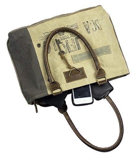 mano hombro hecho tela Sunsa de Bolso con cuero compra de de Bolso de bolso señora tela 51685 Vintage pPRRv0Hwxq