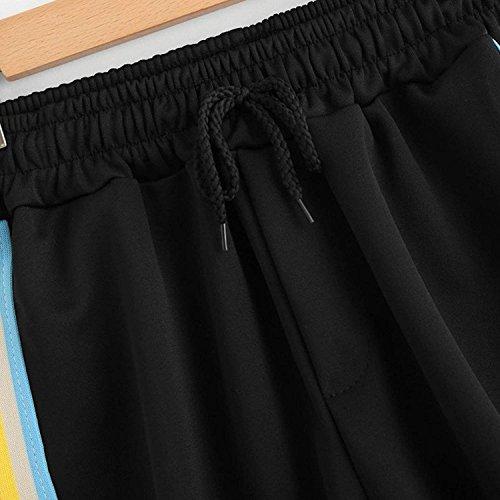 Donna Pantaloncini Taille Strappy Baggy Estivi Accogliente Stlie Casual Sottile Rainbow Sportivi Moda Elastica Pantaloncini Stile Nahen Unique Eleganti Shorts Colors Modern Pantaloni Corti Verde Vita ZXCqxP5P
