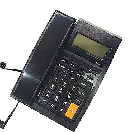 Speakerphone Id Corded Caller (KerLiTar M64 Home Office Corded Phone with Caller ID Speakerphone Speed Dial Landline Telephone with Alarm)