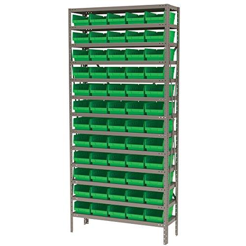 Akro-Mils AS1279130G Steel Shelving Kit, 60 Bins, 12