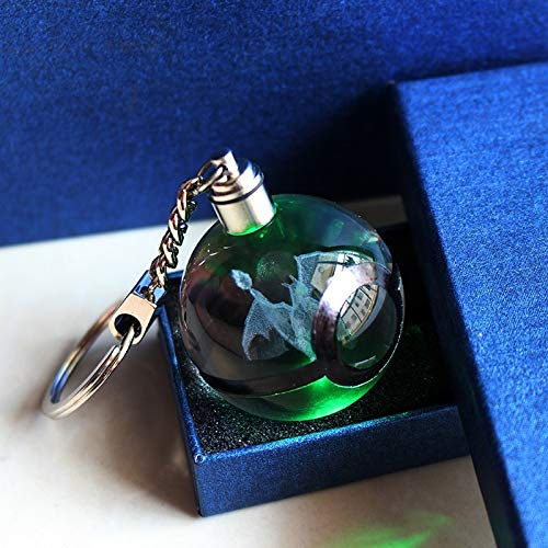 Ball Gargoyle (ABYSTEPS Statues & Sculptures - Hot Game Charizard Ball 3D Laser Keychain Crystal Keyring LED Pokemon Ball Figures Monster 1 PCs)