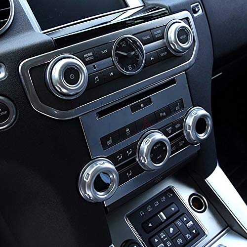 TOOGOO 5pcs//set Chrome Volume and Air Conditioning Knobs Trim for Discovery 4 LR4 Range Rover Sport Car Accessory and Parts
