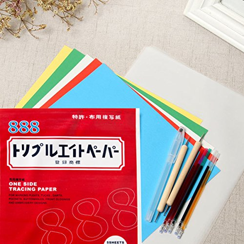 5 Pcs Transfer Paper Carbon Water Soluble Tracing Paper 11 9