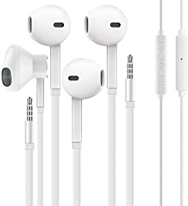 Axirtni 3.5mm in-Ear Wired Noise Cancellation Earbuds/Earphones/Headphones with Remote Micphone Compatible with iPhone Android All 3.5 mm Audio Devices