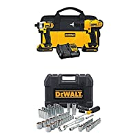 Deals on DEWALT DCK240C2 20v Drill Driver/Impact Combo Kit w/84pc Tool Set