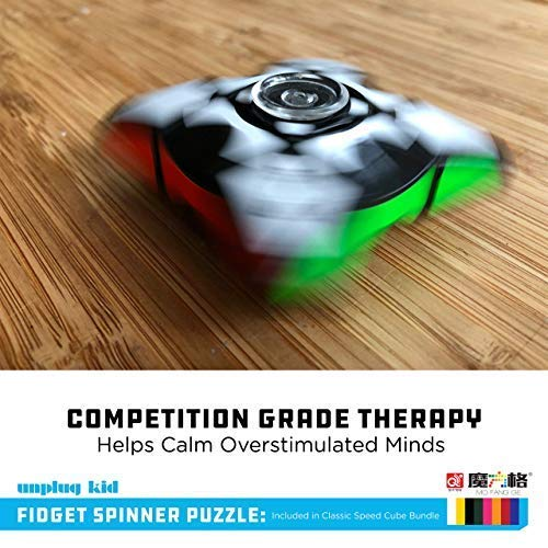 Certified QiYi WCA Quality Competition Speed Cube Bundle 1x3 Floppy Spinner Pyraminx Pyramid 3x3 Thunderclap 2x2 Qidi 4 Cube Bags Strategy Guide Unplugkid QiYi MoFangGe Classic Speed Cube Set