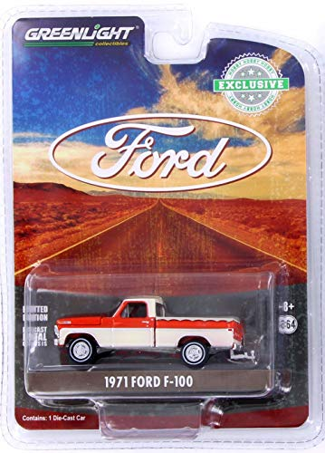 1971 Ford F-100, Orange and White - Greenlight 29957/48 - 1/64 Scale Diecast Model Toy Car