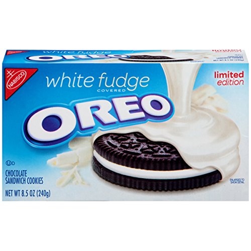 Oreo Limited Edition Sandwich Cookies, White Fudge Chocolate Covered, 8.5 Ounce (Pack of 4)