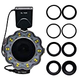 Venidice SL-102 6800k Dimmable Macro LED Ring Flash Light Speedlite With LCD Screen Display 8 Adapter Ring for Canon Nikon Olympus Panasonic Pentax Hot Shoe Digital Camera Lens