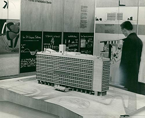 Vintage photo of A architectural model designed by architect Le ()