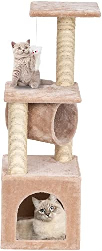 Brian Constance Cat Climb Tree Holder 36 Stable Cute Sisal Rope Plush Condo Furniture Cat Tower Kitten Kitty Activity Play House