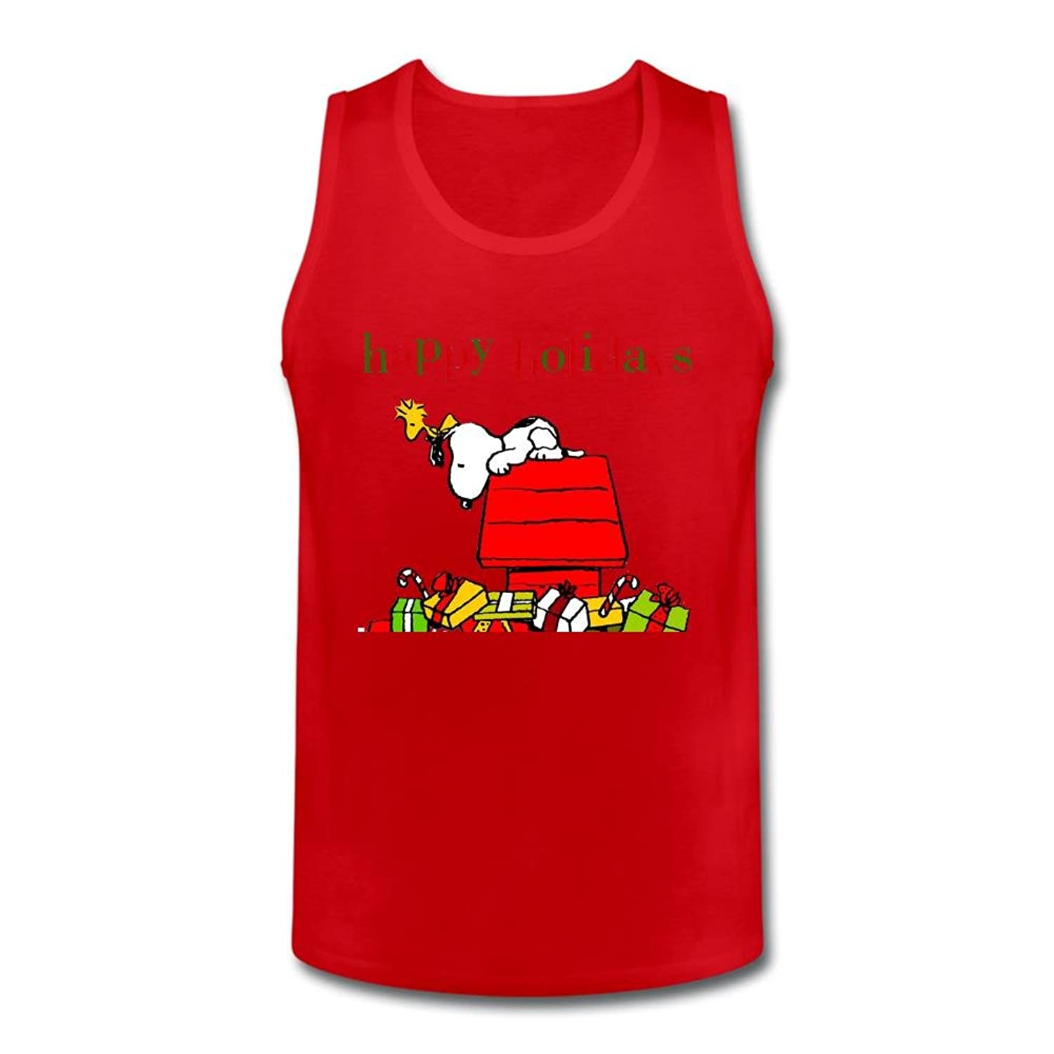 Shock Amiu Men's Snoopy Christmas Happy Holiday Gifts Vest Tank