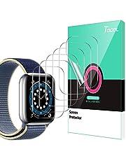TOCOL 6 Pack Screen Protector Compatibel met Apple horloge Serie 6 5 4 SE 44 MM Niet Glas HD Clear Zachte TPU Film iwatch 44 MM Screen Beschermende Film